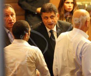 المشير طنطاوي وأبو هشيمة وعدد من نجوم الكرة يحضرون عزاء زوجة مصطفى عبده (صور)