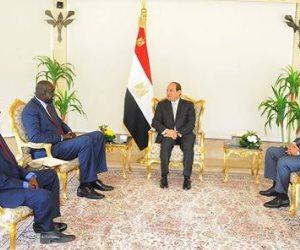 الرئيس السيسي يستقبل  وزير شئون رئاسة جنوب السودان