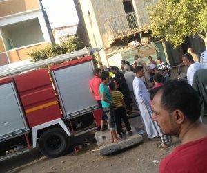 حريق بسيارة ملاكي أمام نادي الرماية وإصابة سيدتين وطفل