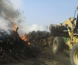 أمن دمياط ينفذ 10 قرارات إزالة لتعديات على الأرض الزراعية