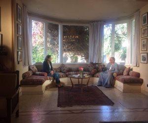 بالصور.. رشا نبيل داخل منزل السادات بقرية ميت الكوم