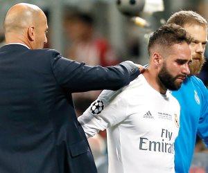 رسمياً.. كارفخال يغيب عن ريال مدريد 8 أسابيع
