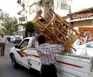 حملة مكبرة لإزالة الإشغالات بحي وسط الإسكندرية (صور)