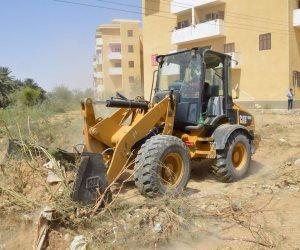 إزالة 25 حالة تعدي على أملاك السكة الحديد في كفر سعد بدمياط