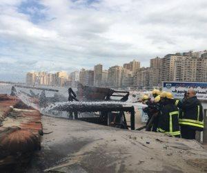 السيطرة على حريق بأحد الكافيهات شرق الإسكندرية  (صور)