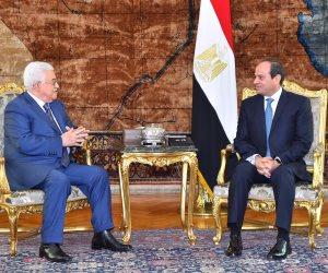بعد إنجاز اتفاق المصالحة الفلسطينية.. أبومازن يشكر السيسى