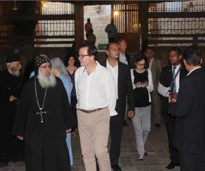 السفير الفرنسي يزور أسيوط ويشيد بحسن الاستقبال (صور)