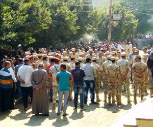 وصول جثمان شهيد سيناء إلى مسقط رأسه في المنوفية