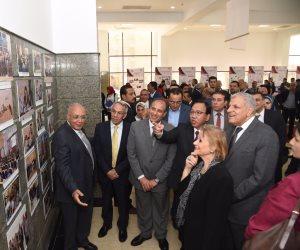 محافظ الإسكندرية يرافق محلب وأبو النجا في افتتاح المبنى التعليمي و الإداري بالجامعة اليابانية  ( صور )