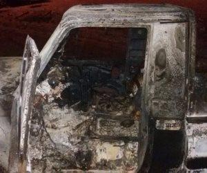 صور تدمير القوات الجوية لسيارات الإرهابيين بالواحات (صور)