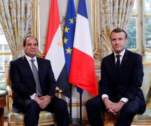 وزير خارجية فرنسا للسيسي: مصر أهم شركاء المنطقة