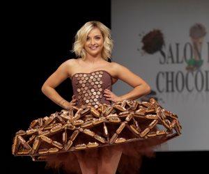 """""""فساتين من الشوكولاتة"""".. صالون """"دو شوكولا"""" ينطلق فى باريس """"صور"""""""
