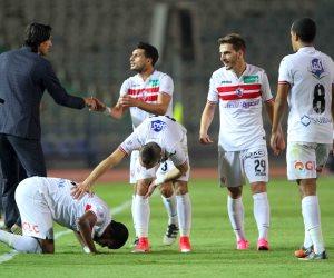الزمالك يتقدم علي النصر 1 / 0 في الشوط الأول (فيديو)