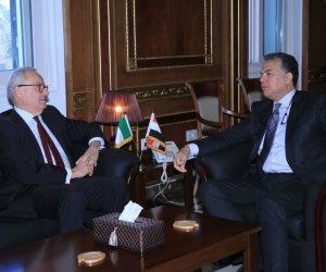 وزير النقل للسفير الإيطالي: السكك الحديدية تحظى باهتمام بالغ