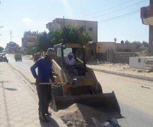 حملة مكبرة لرفع القمامة من شوارع مدينة بئر العبد في شمال سيناء (صور)