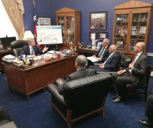علي عبدالعال يلتقي رئيس لجنة الأمن الداخلي بمجلس النواب الأمريكي (صور)