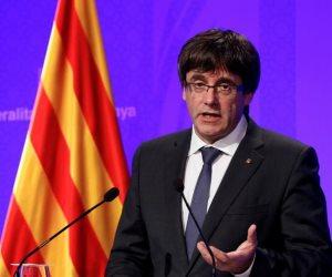 زعيم إقليم كتالونيا السابق ينظم مؤتمر ا صحفيا فى ألمانيا بعد الإفراج عنه