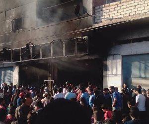 رجال الحماية المدنية يسيطرون على حريق بمخزن في الطالبية
