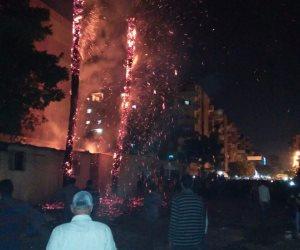 نشوب حريق هائل بمبنى في أيرلندا.. وإصابة 4 أشخاص