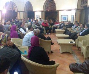 عمرو السعيد يعقد جلسات مع أعضاء صيد أكتوبر والقطامية