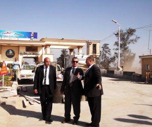 محافظ كفر الشيخ يتفقد الأعمال الجارية بمدخل 30 يونيو