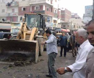 رصف 6 شوارع بمدينة بركة السبع في المنوفية بتكلفة مليون 664 ألف جنيه