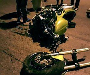 إصابة عامل فى حادث تصادم بين دراجتين ناريتين بالمنوفية