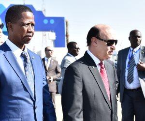 رئيس زامبيا يتفقد مزارع الاستزراع السمكي فى القنطرة شرق (صور)