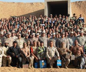 تدريبات مشتركة لقوات الجيش والشرطة على اقتحام البؤر الإرهابية (صور)