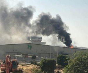 نيابة أكتوبر تفحص أسباب حريق مصنع ورق بالمنطقة الصناعية الثالثة