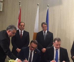 توقيع مذكرة تعاون في مجال الأعمال والاتصال بين مصر وقبرص