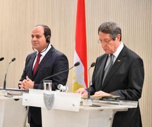 """السيسي أمام منتدى """"المصري- القبرصي"""": نعكف على الانتهاء من خريطة مصر الاستثمارية"""
