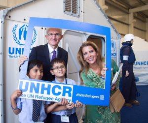 هيا بنت الحسين تستقبل نائب الأمين العام للأمم المتحدة للشؤون الإنسانية