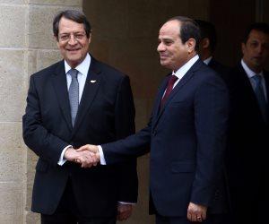 السيسي من قبرص: يجب أن تجني شعوبنا ثمار العلاقة التاريخية