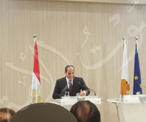 نص كلمة الرئيس السيسي خلال المؤتمر الصحفي المشترك مع نظيره القبرصي