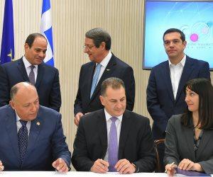 السيسي: اتفقنا على عقد أسبوع للجاليات بين مصر وقبرص واليونان (صور)