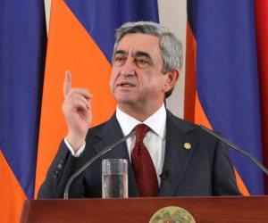 الرئيس الأرميني: نتضامن مع مصر في كفاحها ضد الإرهاب