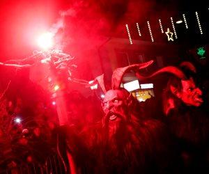 """النمسا تحتفل بمهرجان """"كرامبوس"""".. أقنعة الشياطين وأزياء مرعبة """"صور"""""""
