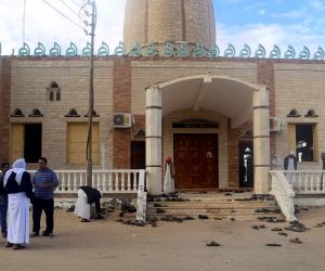 دقيقة حداد على شهداء مسجد الروضة بمؤتمر التمريض الدولي في جامعة حلوان (صور)
