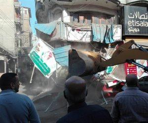 الوحدة المحلية تزيل 40 حالة إشغال طريق خلال حملة في مركز فارسكور بدمياط