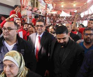 انتخابات الأهلي.. وصول محمود طاهر للإدلاء بصوته في الانتخابات