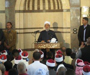"""""""شيخ الأزهر"""" يهدر دم مرتكبي حادث مسجد الروضة"""