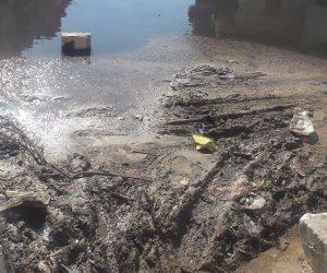 ارتفاع مناسيب المياه بقطاع صرف الوادي الجديد