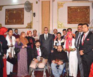 محافظ الفيوم يكرم أبطال متحدي الإعاقة بمناسبة يومهم العالمي (صور)