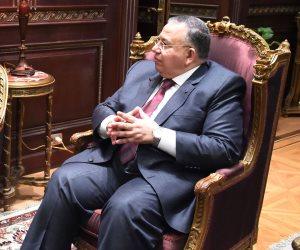وكيل مجلس النواب يتلقى عزاء زوجته بمسجد عمر مكرم اليوم