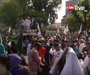 شاهد.. لقطات مباشرة من مظاهرة فى إندونيسيا تضامنا مع القدس