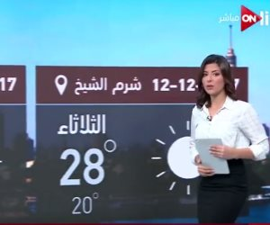بالفيديو..تعرف على حالة الطقس اليوم 12 ديسمبر على القاهرة ومحافظات الجمهورية مع ON Live