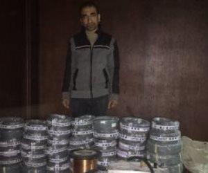 أمن القاهرة ينجح في القبض على صاحب مصنع كابلات نحاسية مقلدة