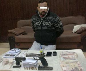 أمن الغربية يضبط 300 جرام هيروين وأسلحة بحوزة تاجر مخدرات