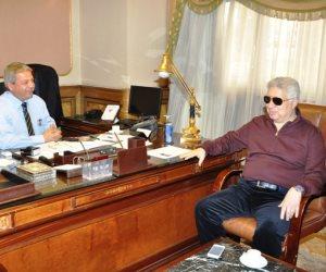 اجتماع مفاجئ بين وزير الرياضة وحسن مصطفى وحطب لمناقشة أزمة الزمالك